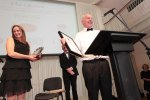 Tom Burgess, Coolattin Cheddar, Supreme Champion 2015 Irish Cheese Awards for Mount Leinster Clothbound.